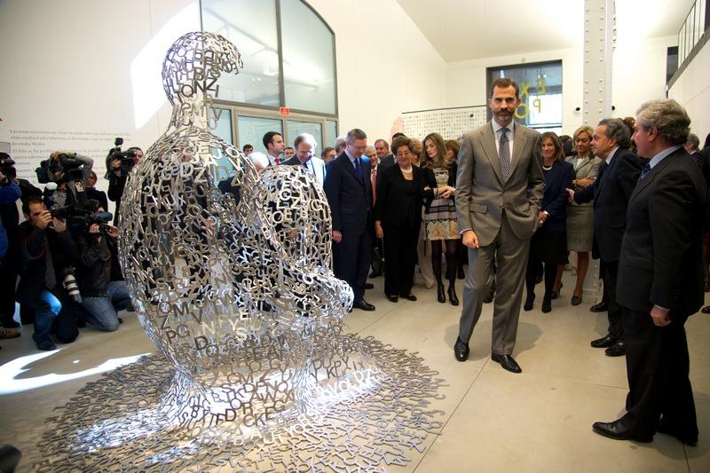 Мадрид, Испания, 17 октября. Принц Фелипе и принцесса Летиция прибыли на открытие «Дома читателя». Фото: Carlos Alvarez/Getty Images