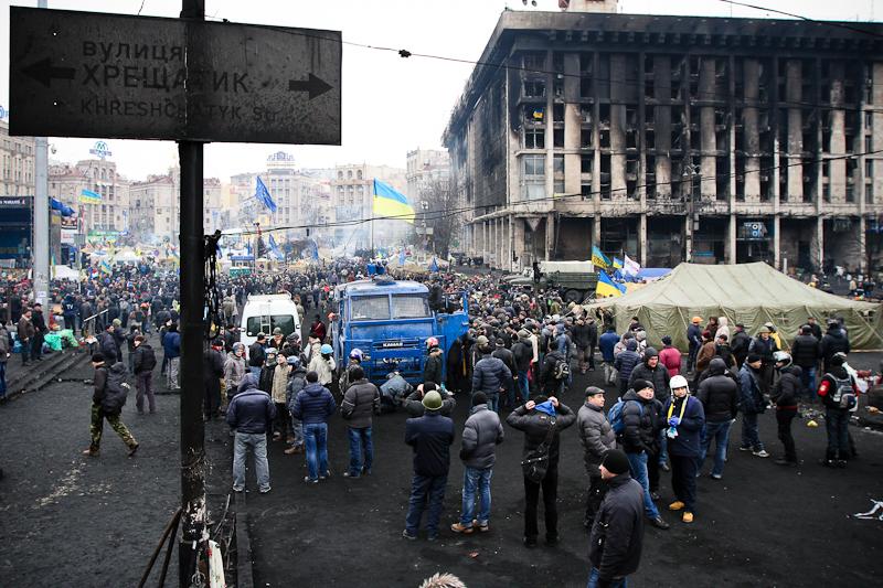 22 февраля — радость активистов и Межигорье. Фото: Велика Епоха