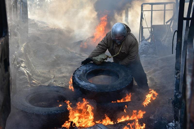 Столкновения на Грушевского, 25 января 2014 г. Фото: Велика Епоха