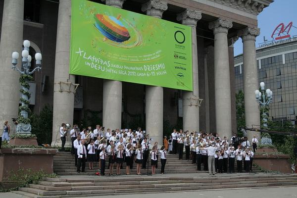 X Праздник песни и танца школьной молодежи в Риге. Фото: Андрей Аболтиньш. The Epoch Times
