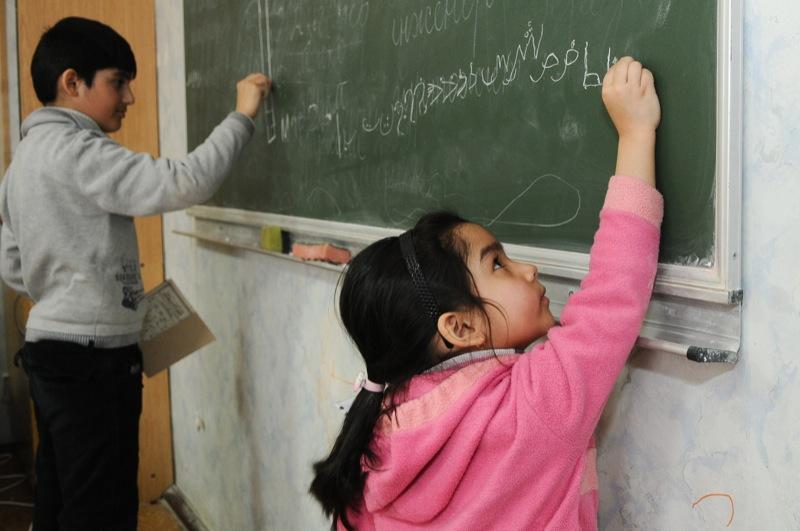 Обучающие курсы для беженцев в интеграционном центре в Киеве. Фото: Владимир Бородин/Великая Эпоха