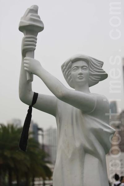 Статуя Богини демократии. Гонконг. 4 июня 2010 год. Фото: The Epoch Times