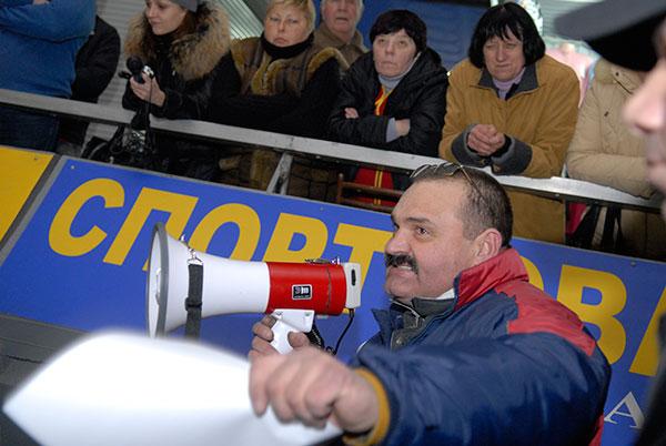 Профсоюз Житнего рынка устроил акцию протеста против его приватизации и возможного закрытия. Фото: Владимир Бородин/The Epoch Times