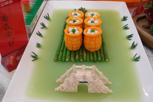 Блюда китайской кухни не только вкусные, но и красивые. Фото с aboluowang.com