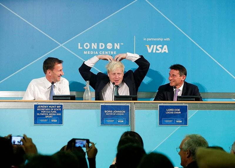 Лондон, Англия, 13 августа. Мэр Борис Джонсон выступает на пресс-конференции, посвящённой итогам Олимпиады-2012. Фото: Matthew Lloyd/Getty Images