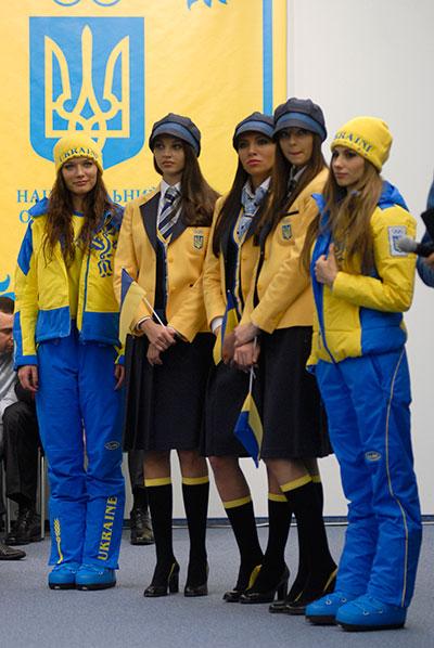 В Киеве 14 января представили парадную форму и спортивную экипировку Национальной олимпийской сборной Украины для 21 зимних Олимпийских игр в Ванкувере. Фото: Владимир Бородин/The Epoch Times
