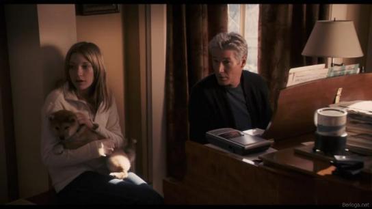 Кадр из фильма 'Хатико Самый верный друг'.
