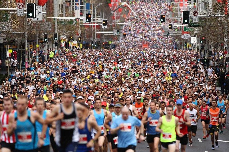 Сидней, Австралия, 12 августа. В городе состоялся массовый спортивный забег City2Surf («От города к пляжу»). Фото: Brendon Thorne/Getty Images