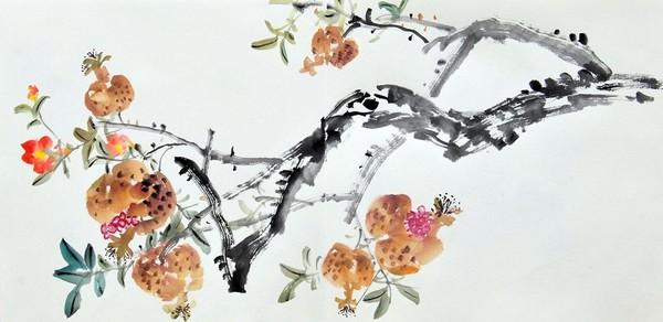 Роль цвета в китайской живописи. Из сборника картин «Цветы и плоды» написанных художником Жу И в стиле «гохуа». Изображение: The Epoch Times