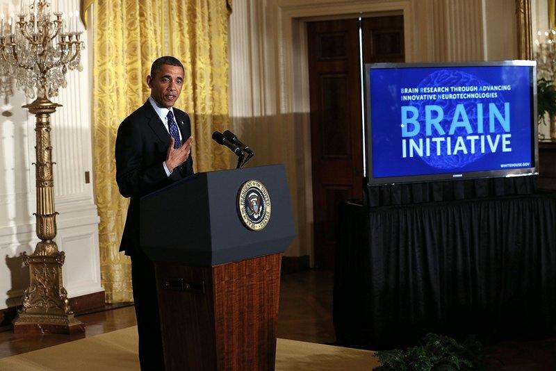 Вашингтон, США, 2 апреля. Барак Обама представил Конгрессу «новый великий американский проект» в области изучения работы мозга человека. Фото: Alex Wong/Getty Images