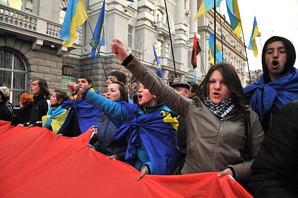 Марш за признание УПА прошел в Киеве 14 октября 2010 года. Фото: Владимир Бородин/The Epoch Times