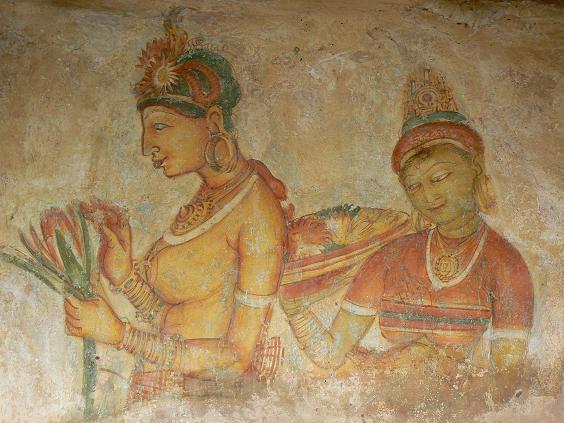Наложницы царя Кассипы, фрески во дворце Сигирии. Фото: paularps/Flickr