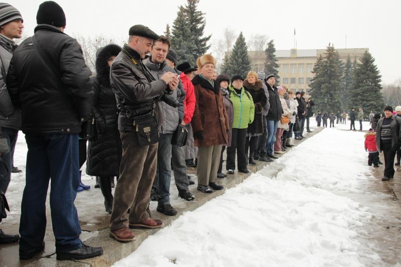 Митинг против добычи сланцевого газа в Украине, Краматорск, 10 марта 2013 г. Фото: Великая Эпоха