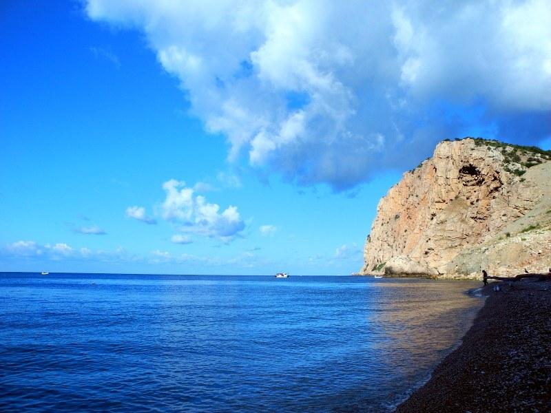Пляж Васили в Василевой балке близ Балаклавы. Фото: Алла Лавриненко/Великая Эпоха