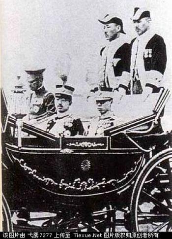 Пу И с императором Японии Хирохито. 1935 год. Фото с secretchina.com