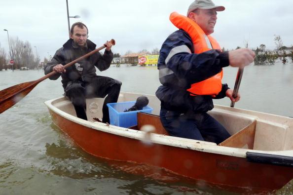 Наводнение. Польша. Висла. Фоторепортаж. Фото: PETER KOHALMI/AFP/Getty Images