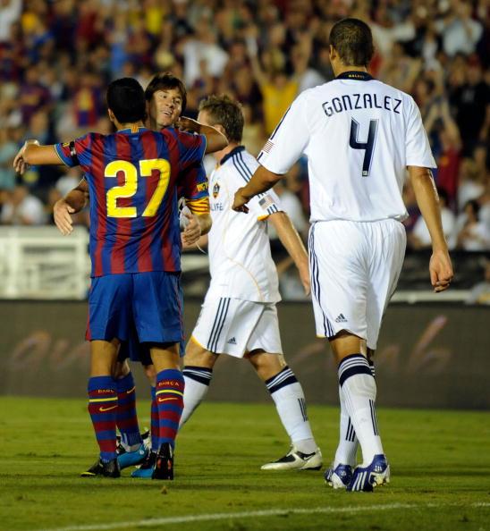 Лос-Анджелес Гэлэкси - Барселона фото:GABRIEL BOUYS, MARK RALSTON /Getty Images Sport