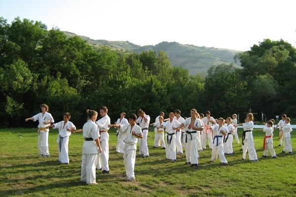 Занятия боевыми искусствами в группах.Фото:Павел Хулин/The Epoch Times Украина