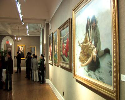 В Нью-Йорке открылась выставка картин. Это конкурс среди китайцев, организованный телеканалом NTD в рамках ежегодной серии конкурсов, посвященных традиционной китайской культуре. Фото: телеканал NTD