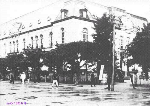Библиотека. Впоследствии была взорвана. Тайвань в период правления Японии (1895-1945 гг.)