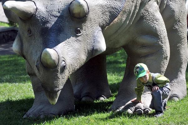 Выставка «Мир Динозавров» открылась в Киеве 10 сентября 2010 года. Фото: Владимир Бородин/The Epoch Times