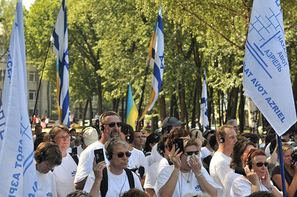 Делегация из Германии, в составе которой родственники нацистов, прибыла в Киев для почтения памяти расстрелянных евреев. Фото: Владимир Бородин/The Epoch Times