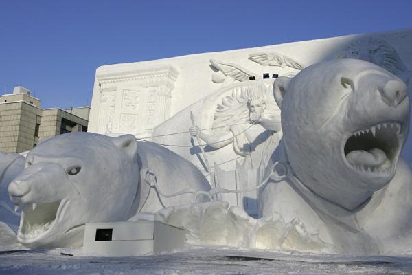 Снежный фестиваль в Саппоро (Япония) ежегодно отмечается в начале февраля в течение семи дней. Фото: Cameron Spencer/Getty Images