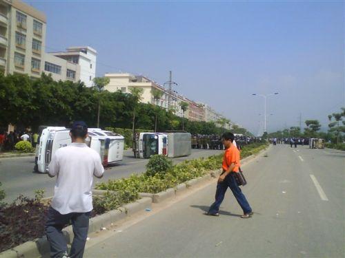 Протест крестьян против отъёма правительством земли. Фото с aboluowang.com