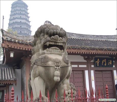 Современный храм Фамэнь. Провинция Шэньси. Фото с wencaifeng.blog.sohu.com