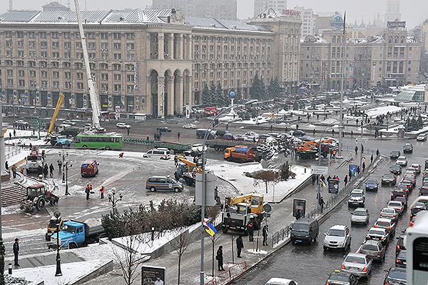 В Киеве демонтирован палаточный городок предпринимателей, протестующих против нового Налогового кодекса. Фото: Владимир Бородин/The Epoch Times Украина