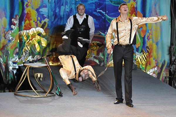 Дрессированный шимпанзе под руководством Игоря Попова в Киевском цирке 27 января 2011 года. Фото: Владимир Бородин/The Epoch Times Украина