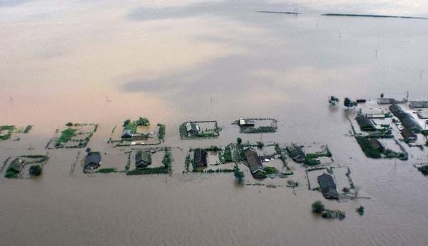 Последствия наводнения в провинции Ляонин. Август 2010 год. Фото: AFP