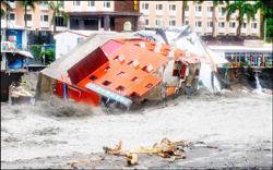 Во время тайфуна рухнул 5-ти этажный отель. Тайвань. 8 августа. 2009 год. Фото: The Liberty Times