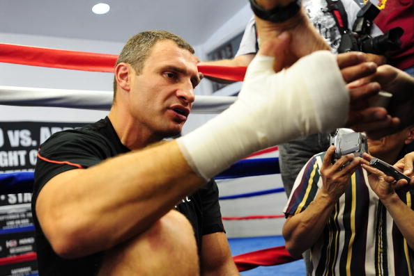 Открытая тренировка Виталия Кличко фото: Robert Laberge,Jacob de Golish /Getty Images Sport
