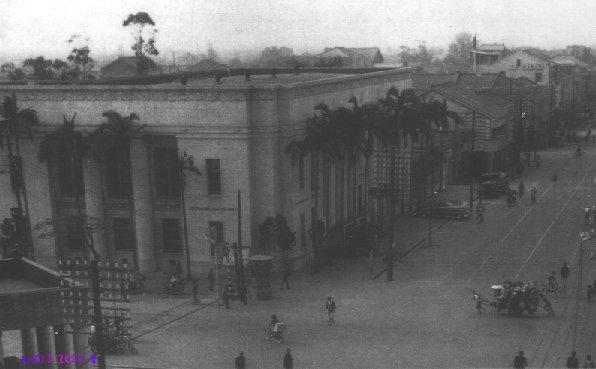 Улица в городе Тайчжун. Тайвань в период правления Японии (1895-1945 гг.)