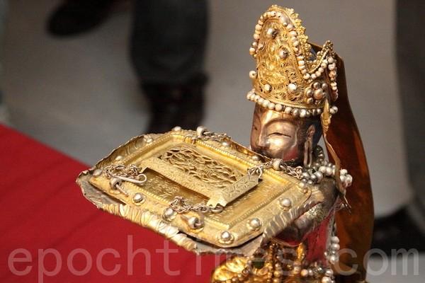 Буддистские реликвии, найденные в подземном хранилище храма Фамэнь. Фото: The Epoch Times