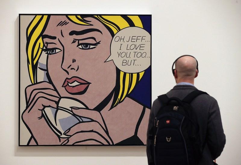 Лондон, Великобритания, 18 февраля. В галерее «Тейт Модерн» проходит ретроспективная выставка графических работ Роя Лихтенштейна. Фото: Dan Kitwood/Getty Images