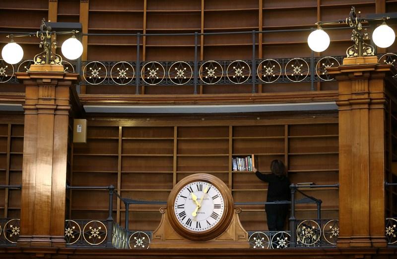 Ливерпуль, Англия, 23 января. Центральная библиотека города готовится к открытию после 2-х лет реставрационных работ. Фото: Christopher Furlong/Getty Images