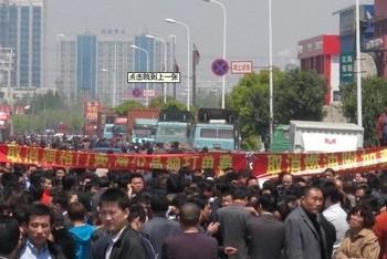 Акции протеста перевозчиков в Шанхае. 19–20 апреля 2011 год. Фото с epochtimes.com