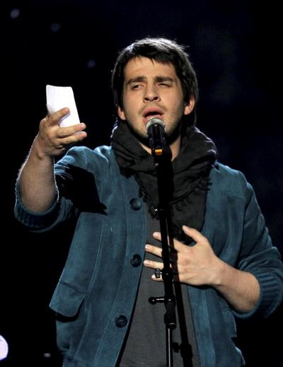 Петр Налич выступил в первом полуфинале «Евровидения-2010» и попал в финал. Фоторепортаж. Фото: CORNELIUS POPPE/AFP/Getty Images