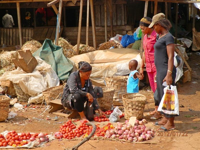 Помидоры, лук, картошка — основные продукты на рынке. Фото: Александр Африканец