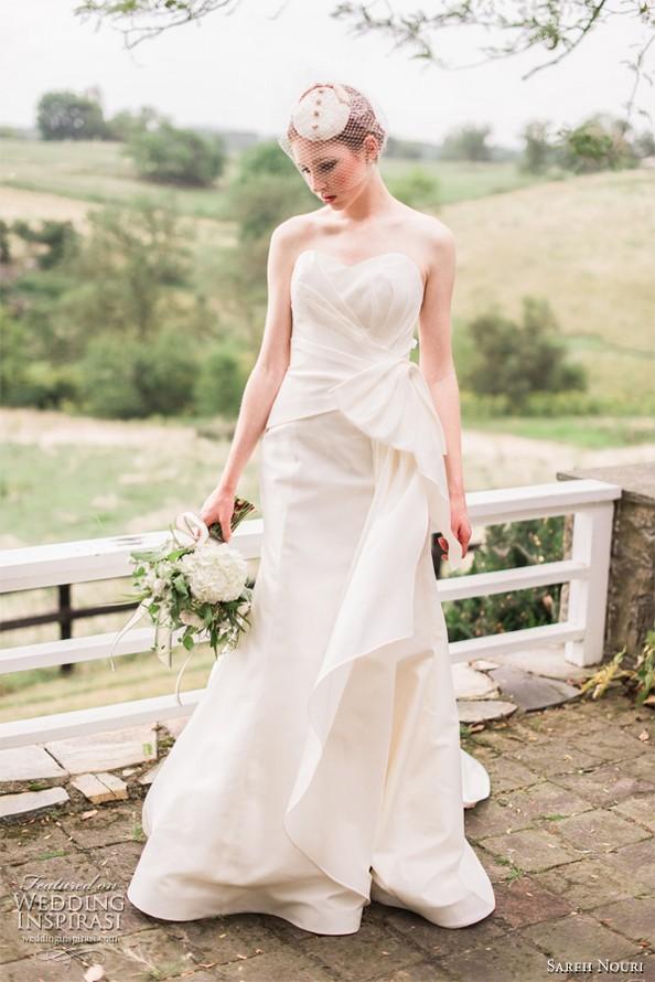 Свадебная коллекция весна-лето 2013 от Sareh Nouri. Фото: Emme Wynn/weddinginspirasi.com