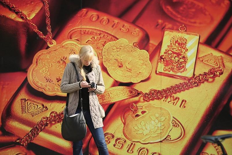 Берлин, Германия, 16 апреля. Цены на золото в мире снизились почти на 10%. Фото: Sean Gallup/Getty Images