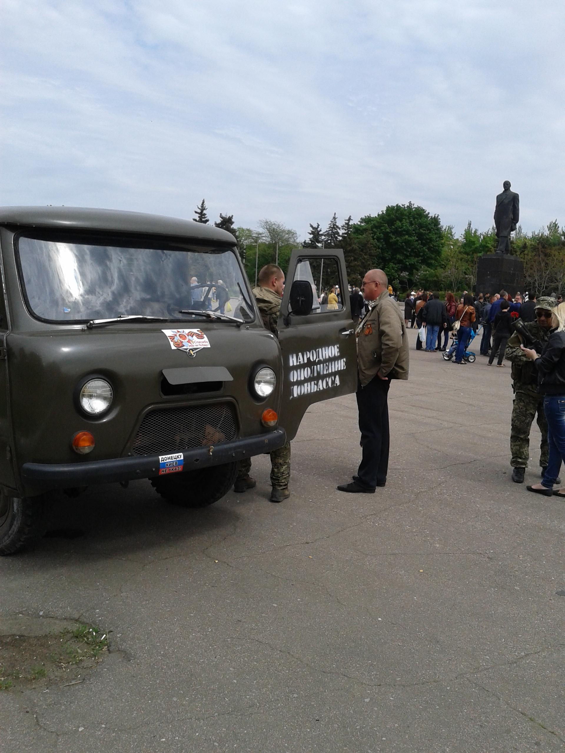9 мая 2014 года. Краматорск, центральная площадь города. Фото: Великая Эпоха