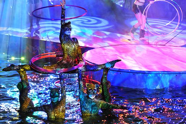 Выступление акробатического ансамбля на воде и в воздухе «Пришельцы» в Киевском цирке 27 января 2011 года. Фото: Владимир Бородин/The Epoch Times Украина