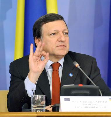 Глава Еврокомиссии Жозе Мануэль Баррозу: Евросоюз поддерживает Украину в ее стремлении укреплять отношения с ЕС. Фото: пресс-службы Президента Украины