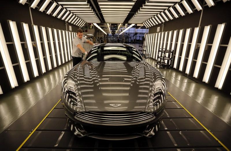 Гейдон, Англия, 10 января. Автомобильная компания «Астон Мартин» отмечает 100-летний юбилей. Фото: Christopher Furlong/Getty Images