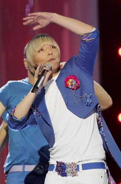 В первый день вместе с Петром Наличем на «Евровидения-2010» выступили участники из 17 стран. Милан Станкович из Сербии. Фоторепортаж. Фото: CORNELIUS POPPE/AFP/Getty Images