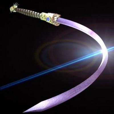 Пурпурный гибкий меч. Лезвие можно согнуть в кольцо. Научиться пользоваться им нелегко. Фото с aboluowang.com