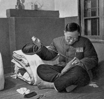 Пу И в тюрьме города Фушун. Фото с secretchina.com